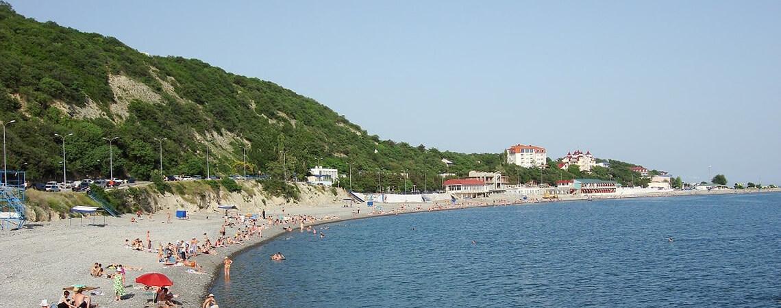 Пляж Широкая Балка в Новороссийске